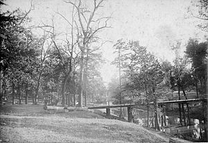 Clarksdale, Mississippi - The Sunflower River Bridge in Clarksdale, 1890