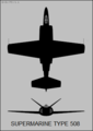 Supermarine 508 two-view silhouette.png