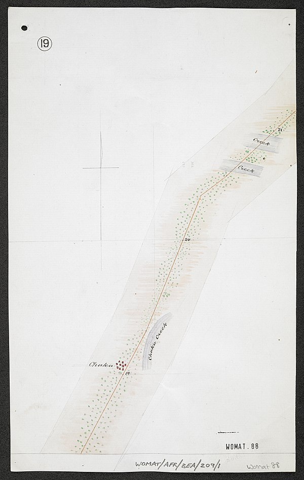 600px survey of telegraph line from frere town mombassa to malindi. east africa. %28womat afr bea 209 1 19%29