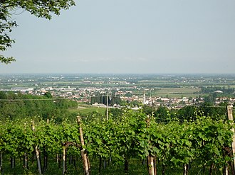 Battle of Piave River (1809) - Susegana from the hills