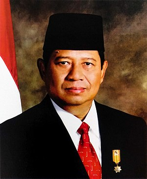 Susilo Bambang Yudhoyono - Yudhoyono's official presidential portrait on his first term, taken in 2004.