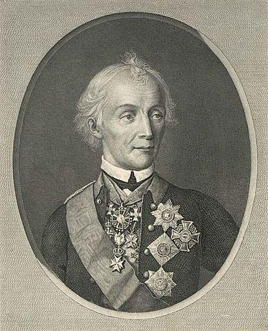 Н. И. Уткин. Портрет А. В. Суворова. 1818 г. Гравюра с портрета 1800 года.