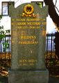 Sven Hedin's gravestone at Adolf Fredriks kyrkogård, Stockholm, Sweden.jpg