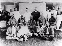 A group photo of Swami Vivekananda and his disciples.