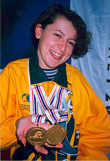Swimming Denise Beckwith Atlanta Paralympics.jpg