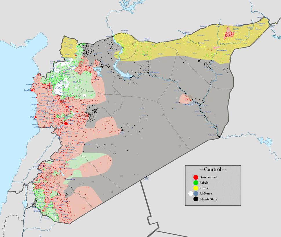 Syrian civil war 01 01 2016