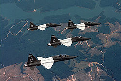 Northrop T-38C formation from the 50th Flying Training Squadron based at Columbus AFB.