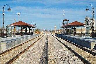 North Richland Hills/Smithfield station - Image: TEX Rail NRH Smithfield 2018 4