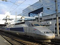 A TGV train at Rennes, in Brittany.