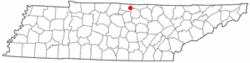 Location of RedBoilingSprings, TN