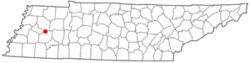 Location of Three Way, Tennessee