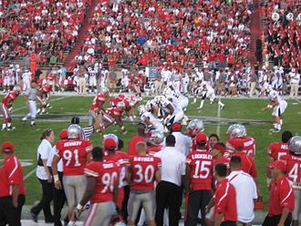 2010 Texas Tech Red Raiders football team - Tech on offense during the New Mexico game