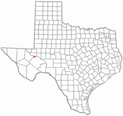 Location of Coyanosa, Texas