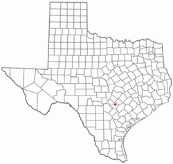 Location of Kingsbury, Texas