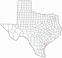Location of Refugio, Texas