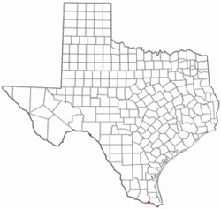 Location of Relampago, Texas
