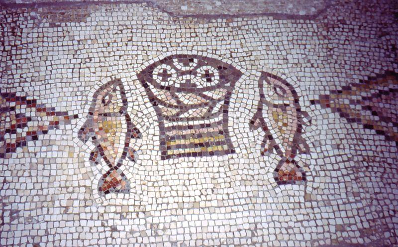 https://commons.wikimedia.org/wiki/File:Tabgha_Church_Mosaic_Israel.jpg