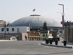The Tacoma Dome from the Bridge of Glass
