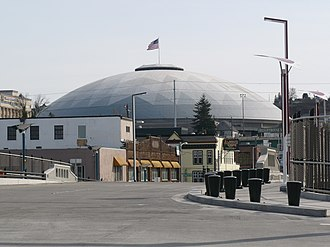 Tacoma Dome - The Tacoma Dome from the Bridge of Glass