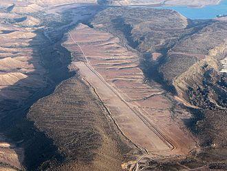 Tadjourah Region - Aerial view of a landing strip at the Tadjoura Airport.