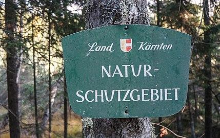 Tafel Naturschutzgebiet im Türkenmoos, Bezirk Sankt Veit an der Glan, Kärnten.jpg