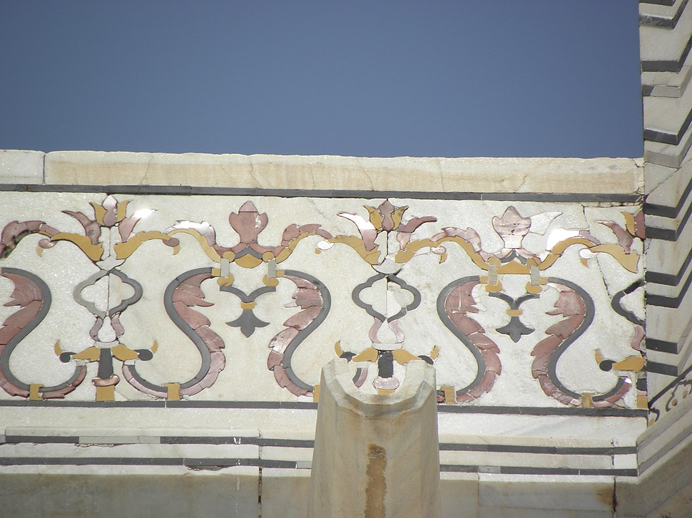 Reflective tiles.