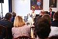 Tallinn Digital Summit press presentation by President Kersti Kaljulaid Digital innovation and Estonia's ambitions Kersti Kaljulaid and Taavi Linnamäe (37368780461).jpg