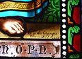 Tauves église vitrail signature.JPG