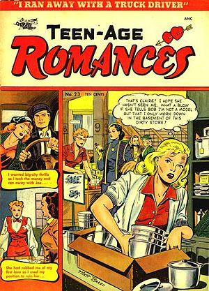 Front cover of Teen-Age Romances #23