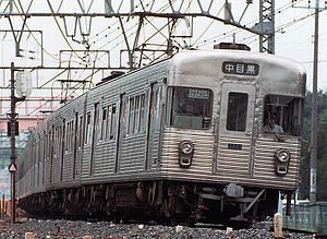 TRTA 3000 series - TRTA 3000 series set 3021 on the Tobu Isesaki Line in 1988