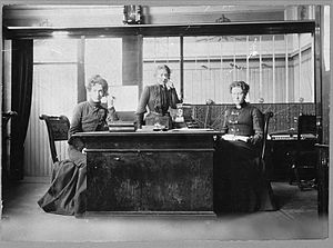 Switchboard operator - Telephone operators in Stockholm, Sweden 1902–1903.