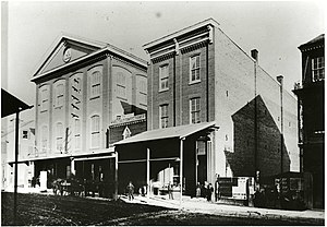 Rider University - Temperance Hall, 1865, the original home of the Trenton Business College