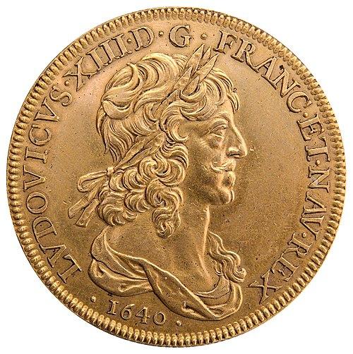 Ten-louis coin Louis XIII 1640 CdM Paris BN2280