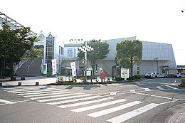 Tendō Station East Entrance.jpg
