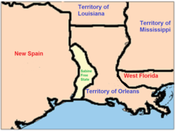 Location of Orleans Territory