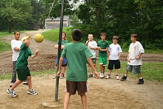 Tetherball - A game of tetherball