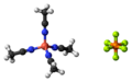 Tetrakis(acetonitrile)copper(I) hexafluorophosphate 3D ball.png