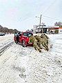 Texas National Guard - Car Stuck in Snow Abilene, Texas Feb 2021.jpg