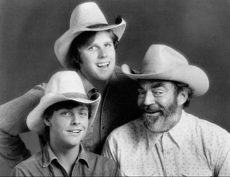 Gary Busey - Gary Busey (standing), Mark Hamill and Jack Elam from The Texas Wheelers, 1974