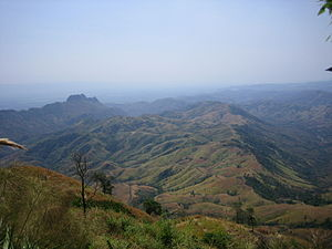 Phetchabun Mountains - View over the Phu Hin Rong Kla area