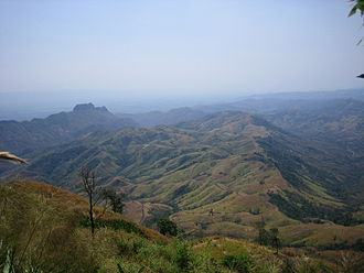 Phetchabun Mountains - View over the Phu Hin Rong Kla area