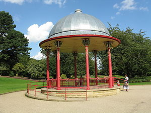 Roberts Park, Saltaire - Image: The Bandstand, Roberts Park, Saltaire
