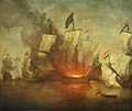 The Burning of HMS Royal James at the battle of Solebay, 28 May 1672 RMG RP6208.jpg