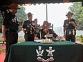 The Chief of Army Staff and President Gorkha Brigade, General Bipin Rawat signing the visitors' book at War Memorial in 39 Gorkha Training Centre, during 9 GR Bicentenary Celebrations, in Varanasi on November 10, 2017.jpg