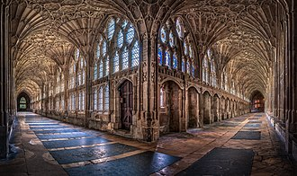 Cloisters at Gloucester Cathedral The Cloisters at Gloucester Cathedral.jpg