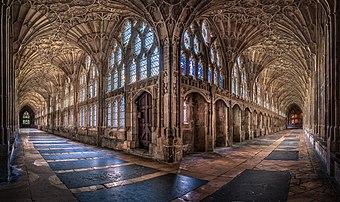 Cloître de la cathédrale de Gloucester. (définition réelle 6339×3771)