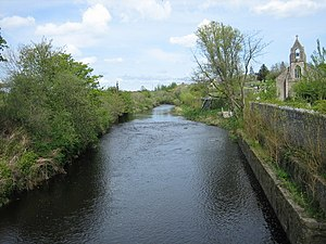 Colebrooke River - The Colebrooke River. Looking upstream at Maguiresbridge.