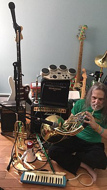 The Gangsta Rabbi plays the French Horn, spring 2018.jpg