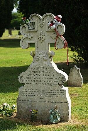Fanny Adams - Fanny Adams' grave in Alton cemetery