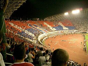The Hajduk Split - Dinamo Zagreb derby